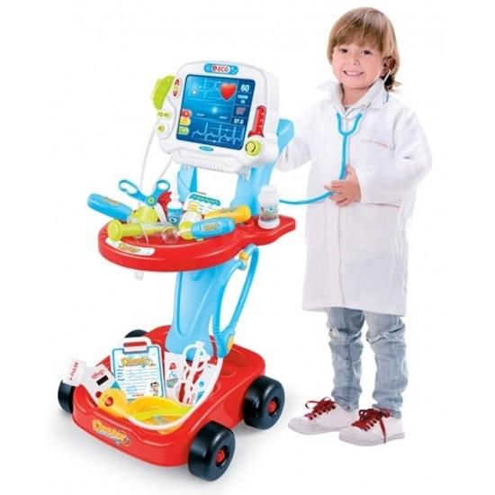 لعبة طبيب الأسنان المتنقل للأطفال بـ17 قطعة مختلفة وبإضاءة وصوت