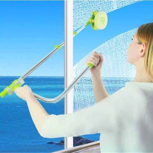قشاطة وممسحة لتنظيف الزجاج الداخلي والخارجي