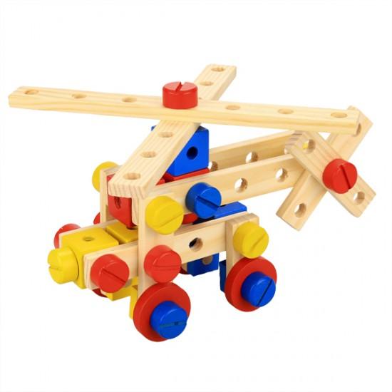 مجموعة الفك والتركيب الخشبيه لتنمية قدرات الطفل العقليه