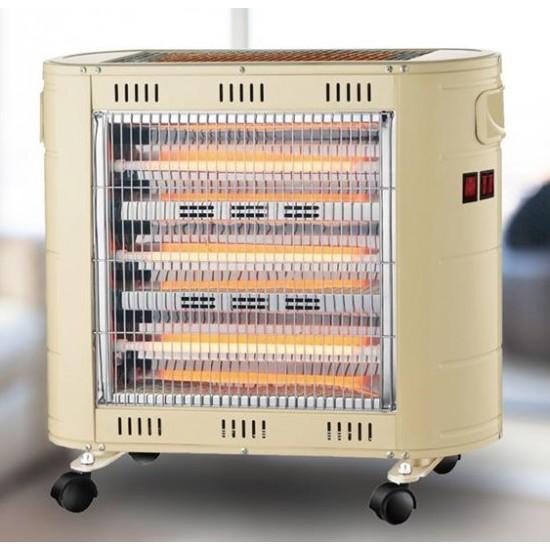مدفأة كهربائية فاخرة ماركة Mega QH1720 تحتوي على 5 أعمدة وبقوة 1850 واط وبكفالة لمدة عام