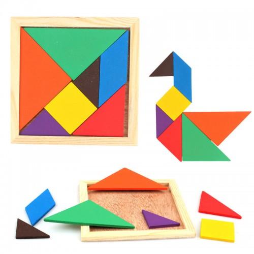 لعبة بزل Tangram مصنوعه من الخشب