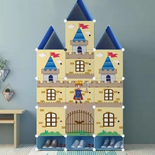 خزانة أطفال بلاستيكيه على شكل قصر موديل 7562-2