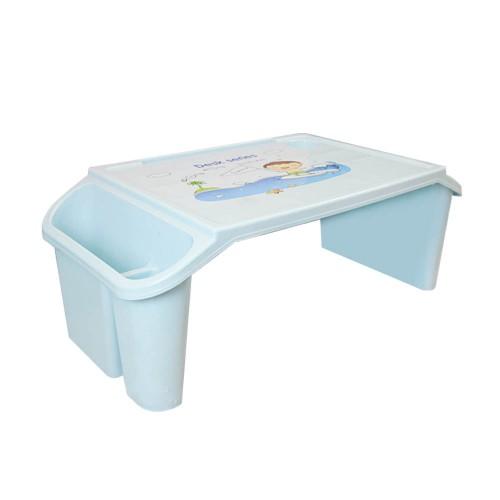 طاولة قصيرة بلاستيكية مع أماكن لتنظيم الاغراض