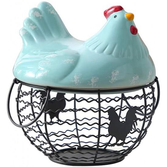 سلة على شكل دجاجة للبيض او الخضار
