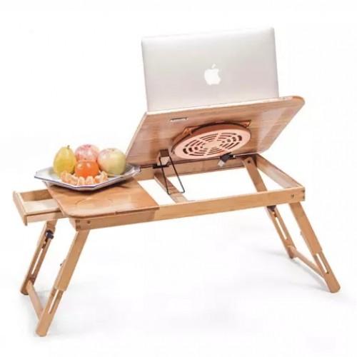 طاولة لابتوب خشبية مع فتحتين للتبريد