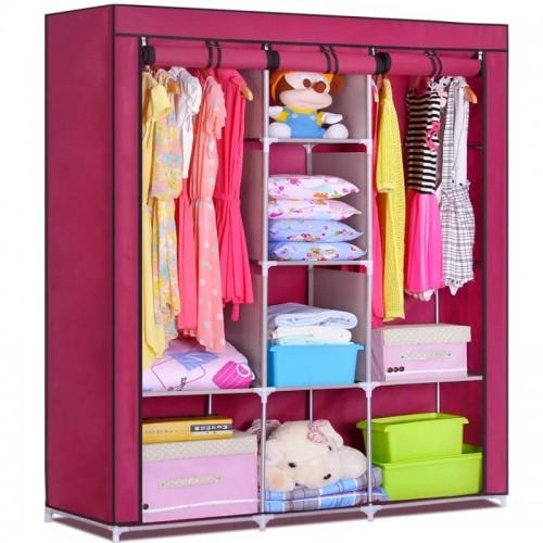 خزانة ملابس مصنوعة من هيكل معدني وغطاء قماشي موديل 855-5