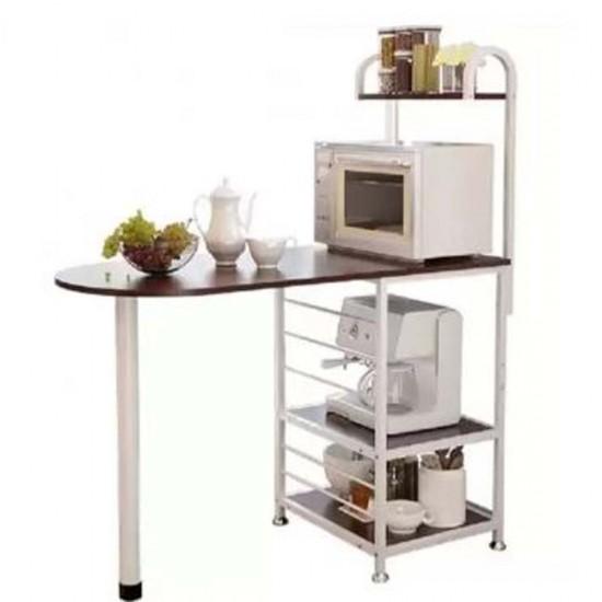 طاولة مطبخ مع رفوف سفلية بهيكل معدني موديل 854-6
