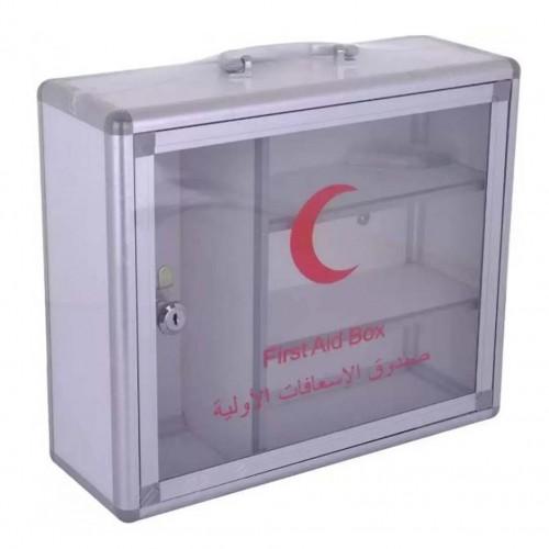 خزانة اسعافات أولية تتكون من 3رفوف مع مفتاح