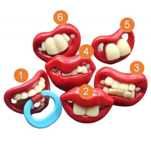 لهاية أطفال على شكل أسنان