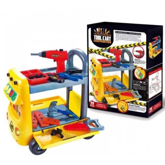 عربة المهندس التعليمية للأطفال بـ38 قطعة مختلفة