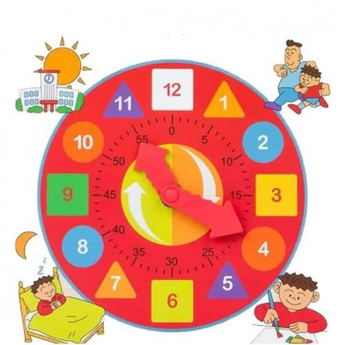لعبة تعلم الوقت والعد على شكل ساعة مع عداد موديل 459-4