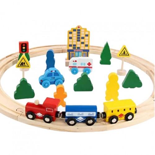 لعبة تركيب الجسر الخشبي للأطفال من عمر ثلاث سنوات فما فوق