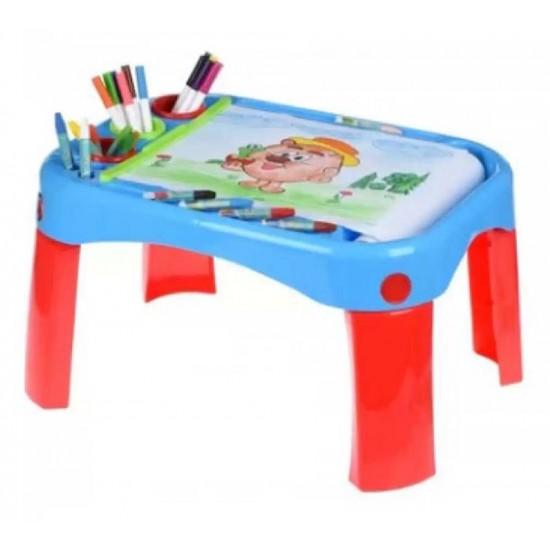 طاولة بلاستيكية للأطفال للرسم والدراسة