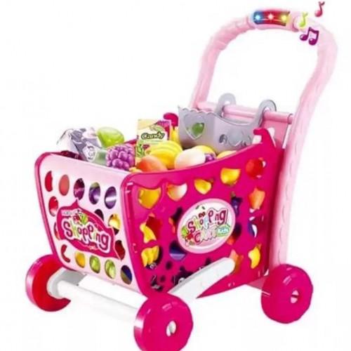 لعبة عربة التسوق مع معداتها