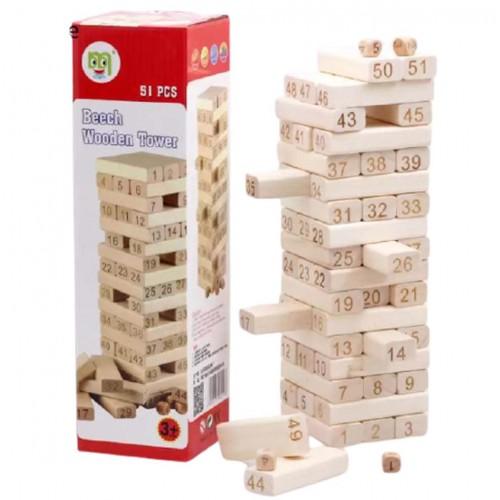 لعبة البرج الخشبي التعليمية للأطفال