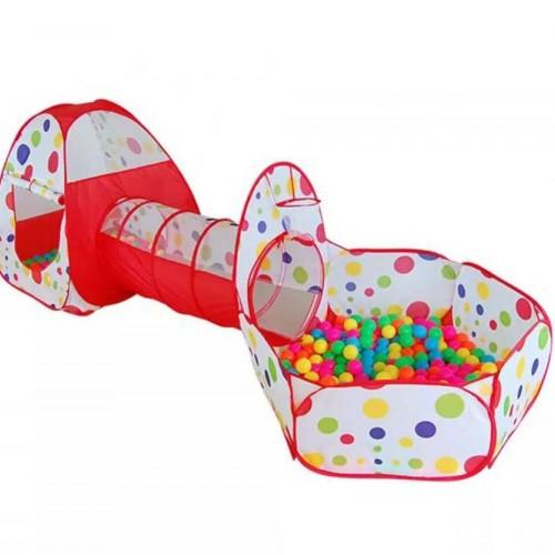خيمة كرات للأطفال مع ممر 3*1 تحتوي على 100 كرة ملونة