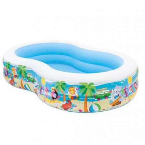 بركة سباحة بيضاوية مع رسومات ماركة INTEX