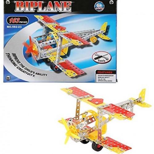 لعبة التركيب الابداعية Biplane للاطفال بــ عمر 6 سنوات فما فوق