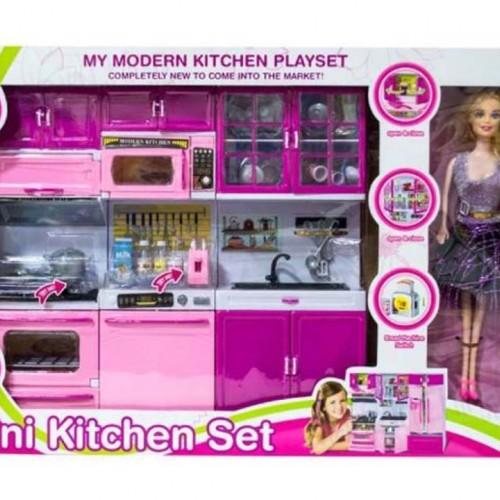 لعبة المطبخ الحديثة مع دمية للاطفال