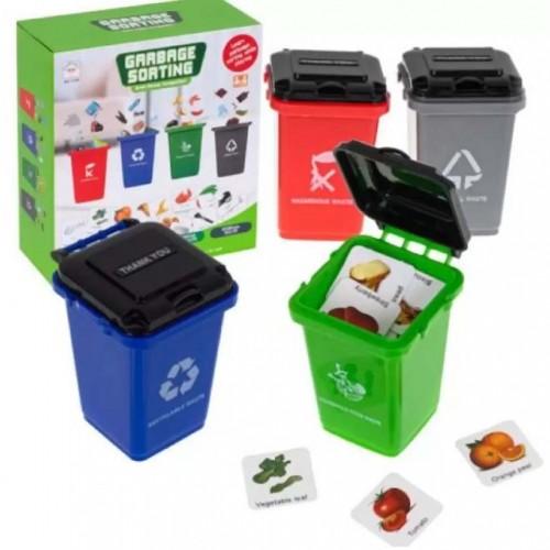لعبة تصنيف القمامة للاطفال متعددة الالوان