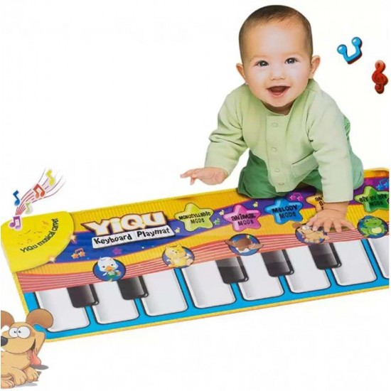 سجادة اطفال مع بيانو تعمل على اللمس