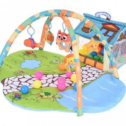سجادة  ألعاب مع كوخ للاطفال