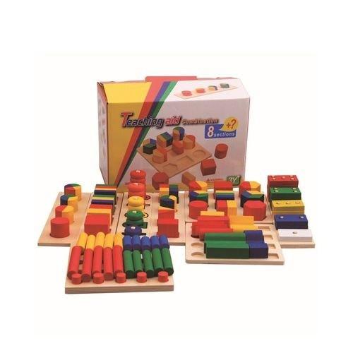 مجموعة الأدوات التعليمية الخشبية مكونة من 8 اقسام