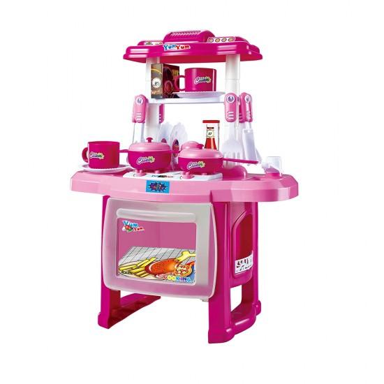 لعبة المطبخ للأطفال بـ 31 قطعة مختلفة