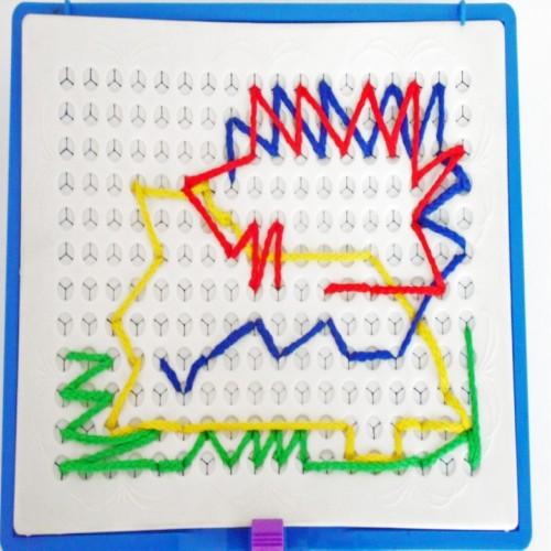 لعبة الرسم بالخيوط للأطفال