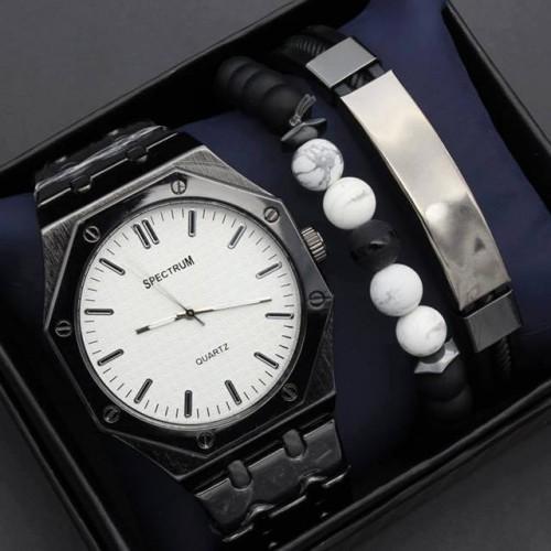 ساعة رجالية باطار على شكل ثماني ماركة SPECTRUM