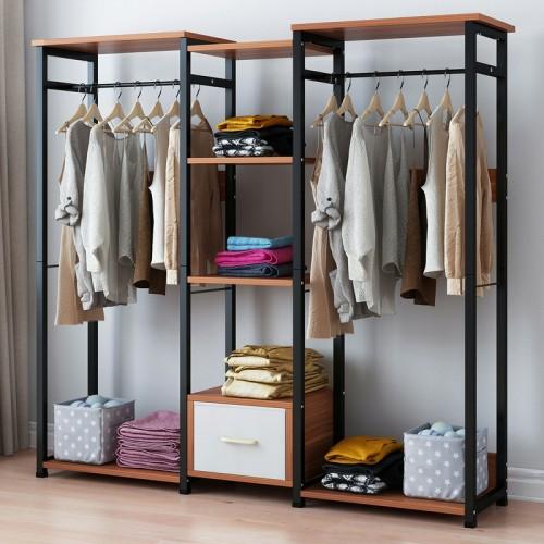 خزانة مميزة  لتعليق الملابس مع رفوف في الوسط BD-3