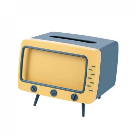 صندوق محارم على شكل تلفزيون قديم
