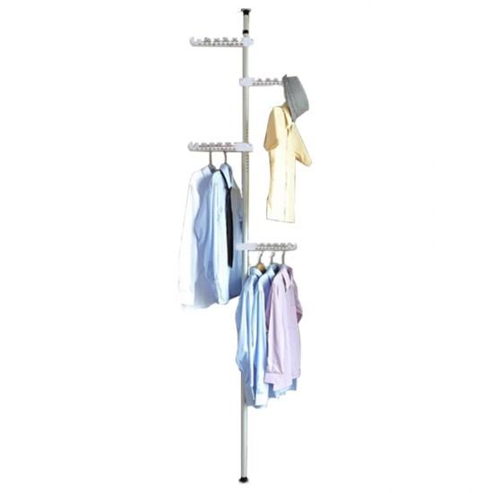 علاقة ملابس على شكل عمود يمكن تثبيته بسهولة موديل 162-1