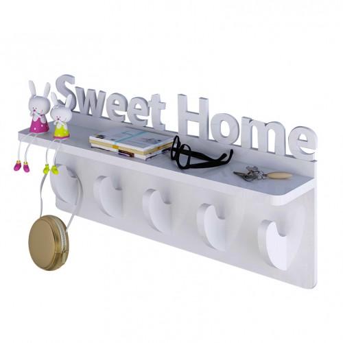 علاقة لمدخل المنزل مع رف بكتابة Sweet Home