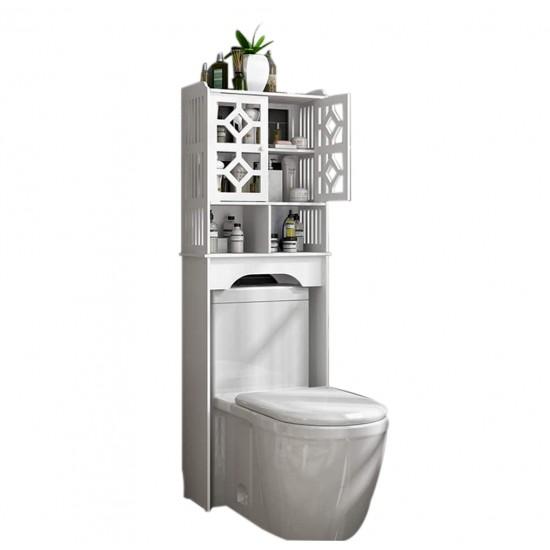 منظم لاغراض الحمام يتم وضعه فوق كرسي المرحاض ويحتوي على رف وخزانة صغيره