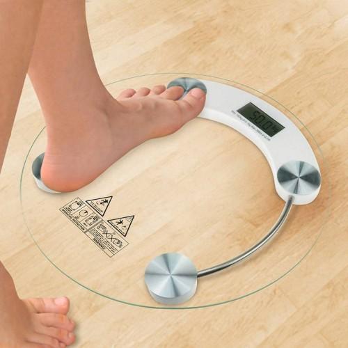 ميزان شفاف لقياس الوزن مع شاشة ديجيتال