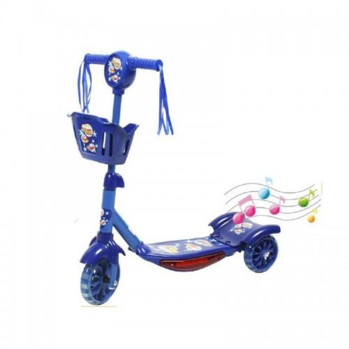 سكوتر رائع بثلاث عجلات للأطفال مع اضاءة وموسيقى وبلونين مختلفين