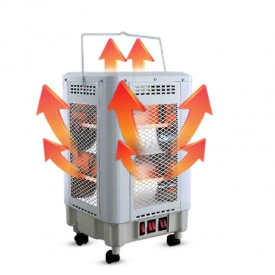 صوبة كهربائية بقوة 2000 واط وتحتوي على 10 اعمدة من جميع الجهات