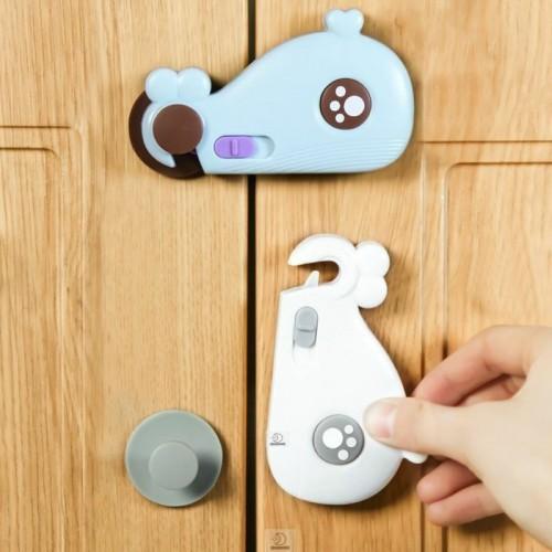 قفل للثلاجة مع زر تحكم