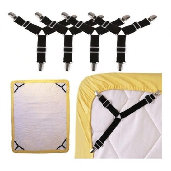 أحزمة مطاط لملف السرير مكون من 4 قطع