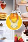 موزع للعسل بنقشة خلية النحل