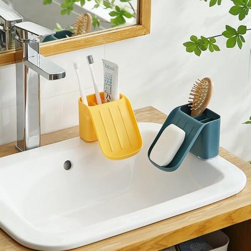 حامل صابون وأدوات بلاستيكي موديل 758-3