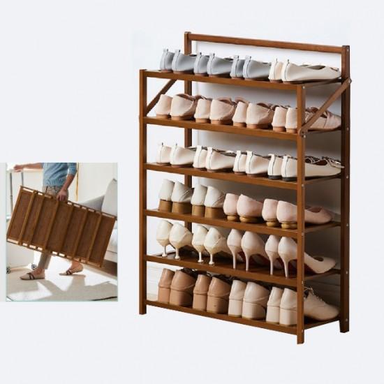 رفوف احذيه خشبية مكونه من 6 طبقات موديل 757-4