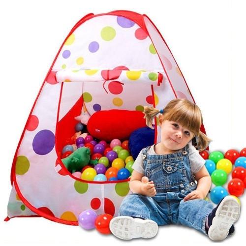 خيمة طابات للاطفال تحتوي على 50 طابة ملونة