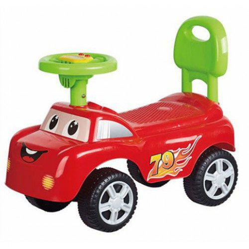 سيارة اطفال باشكال كرتونية مع موسيقى وبعدة الوان