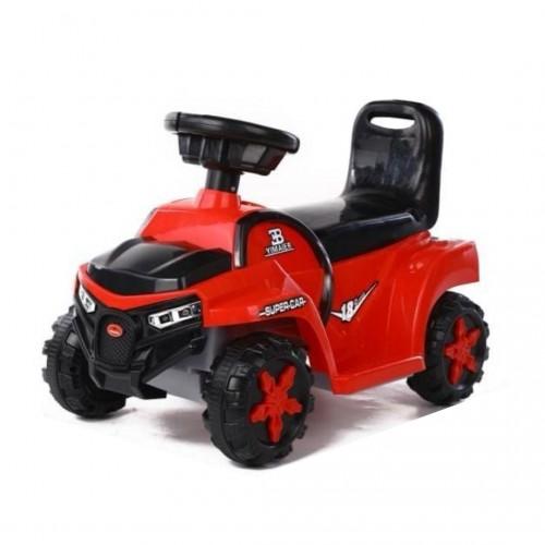 سيارة أطفال تعمل على الكهرباء وتحتوي على اضاءة وموسيقى