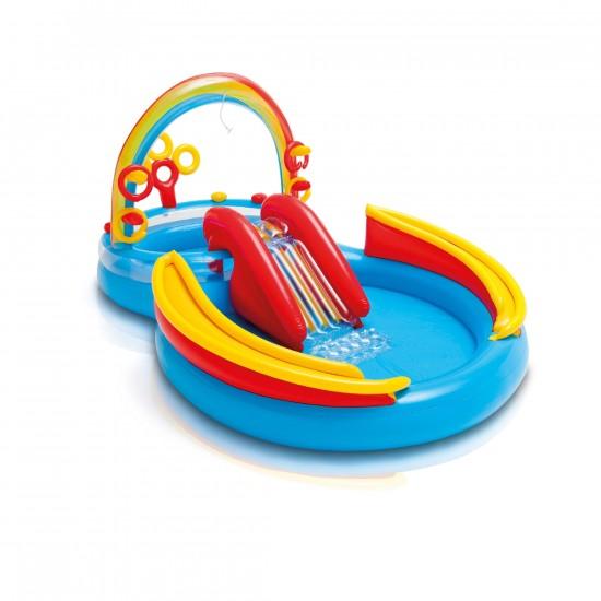 بركة سباحة للأطفال مع سحسيلة والعاب ماركة INTEX