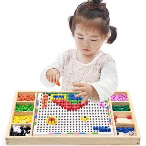 لعبة تشكيل الخرز الملون لعمل الاشكال المختلفة للاطفال
