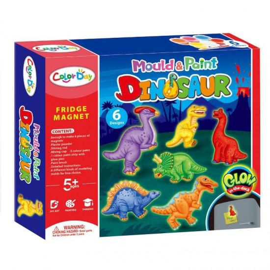 لعبة تشكيل الديناصور بالجبص و التلوين