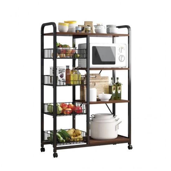 خزانة للمطبخ تحتوي على رفوف وسلات متعددة الاستخدامات zd-11
